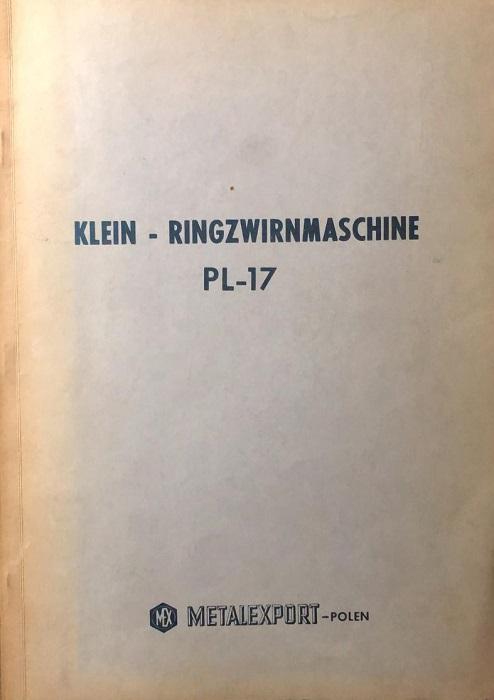 Klein - Ringzwirnmaschine: PL-17.