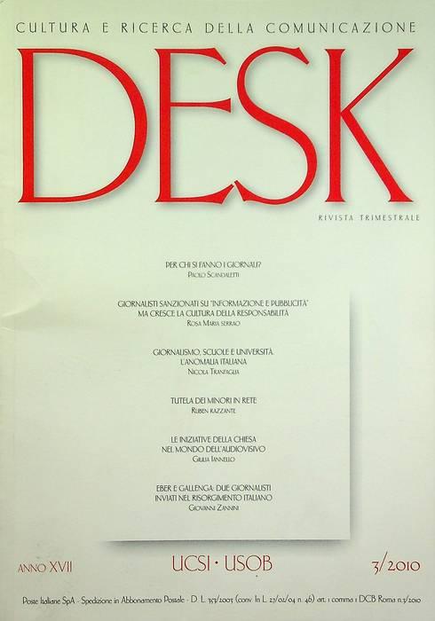 Desk: cultura e ricerca della comunicazione: A. XVII - N. 3/2010.