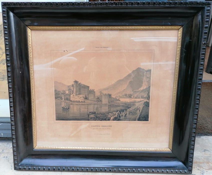 Castel Toblino presso alla strada nuova per Brescia.