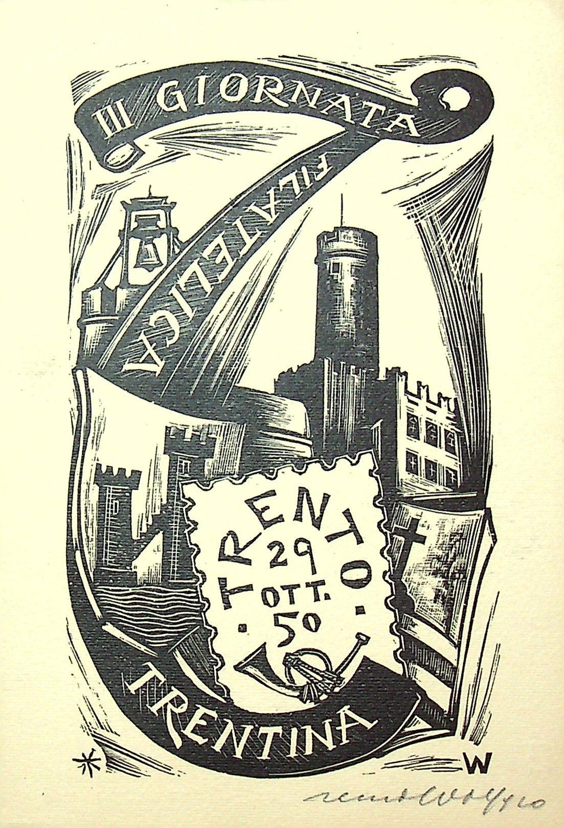 III giornata filatelica Trentina - Trento 29 ott. '50 .