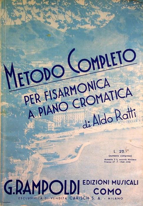 Metodo completo per fisarmonica a piano cromatica, da 12 a 120 bassi.
