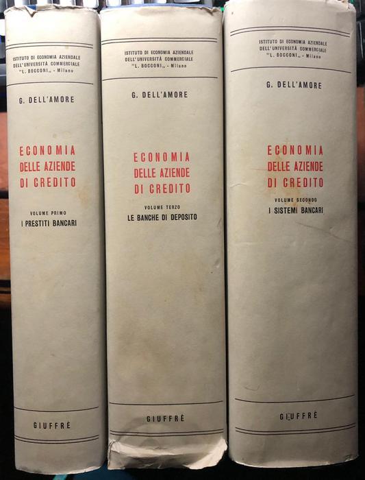 Economia delle aziende di credito: 1. I prestiti bancari; 2. I sistemi bancari; 3. Le banche di deposito.