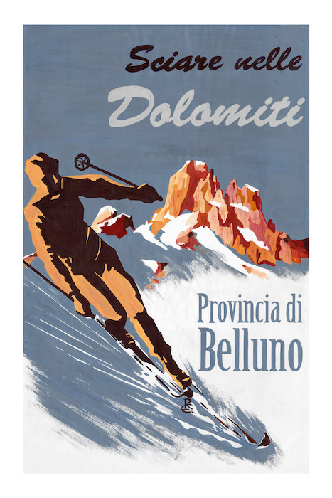 Sciare nelle Dolomiti - Provincia di Belluno.
