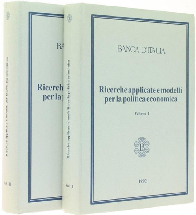 Ricerche applicate e modelli per la politica economica: Perugia, 14-16 marzo1991.