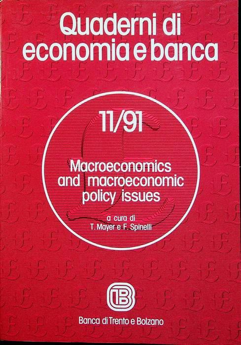 Macroeconomics and macroeconomic policy issues.