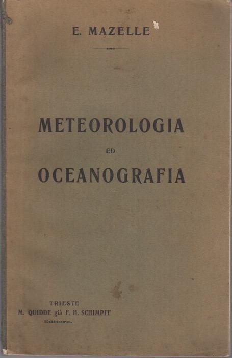 Meteorologia ed oceanografia.
