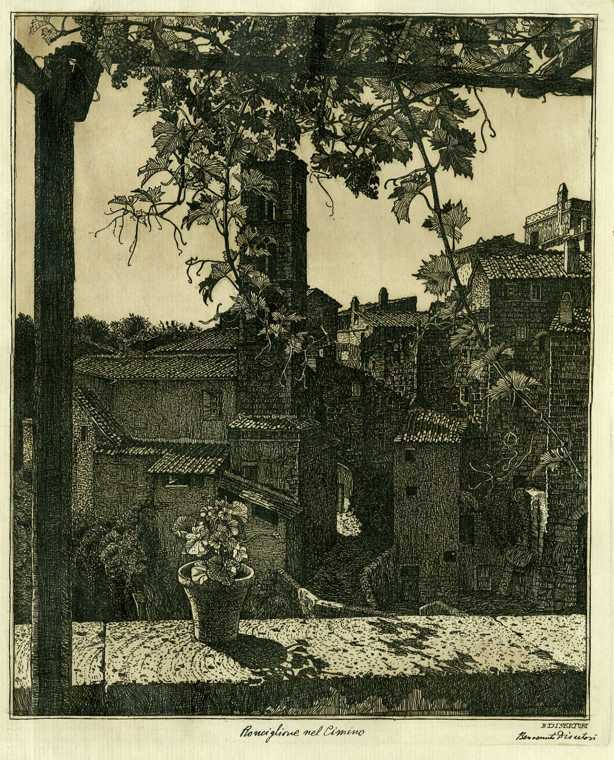 Ronciglione nel Cimino. Veduta n. II (1921-1922).