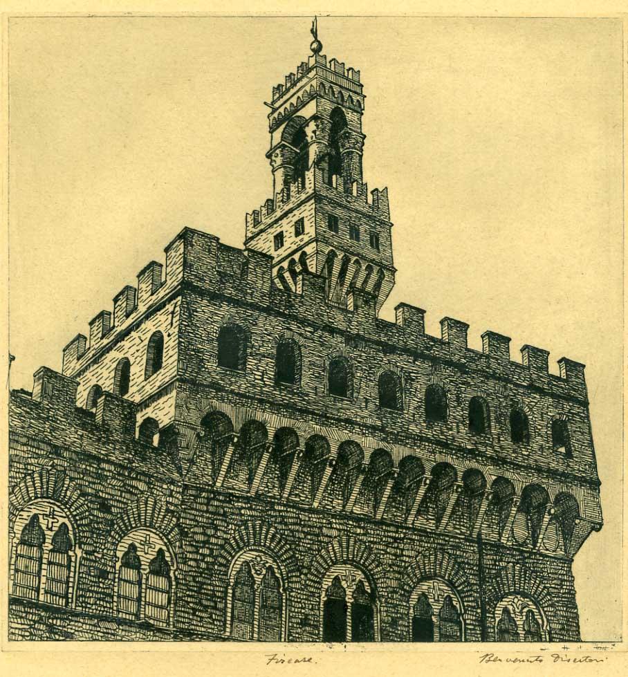 Palazzo della Signoria a Firenze (1916).