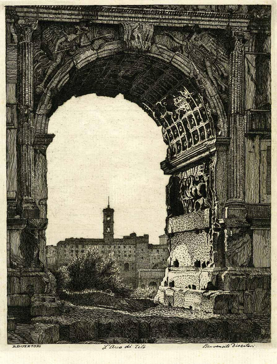 L'Arco di Tito (1918).