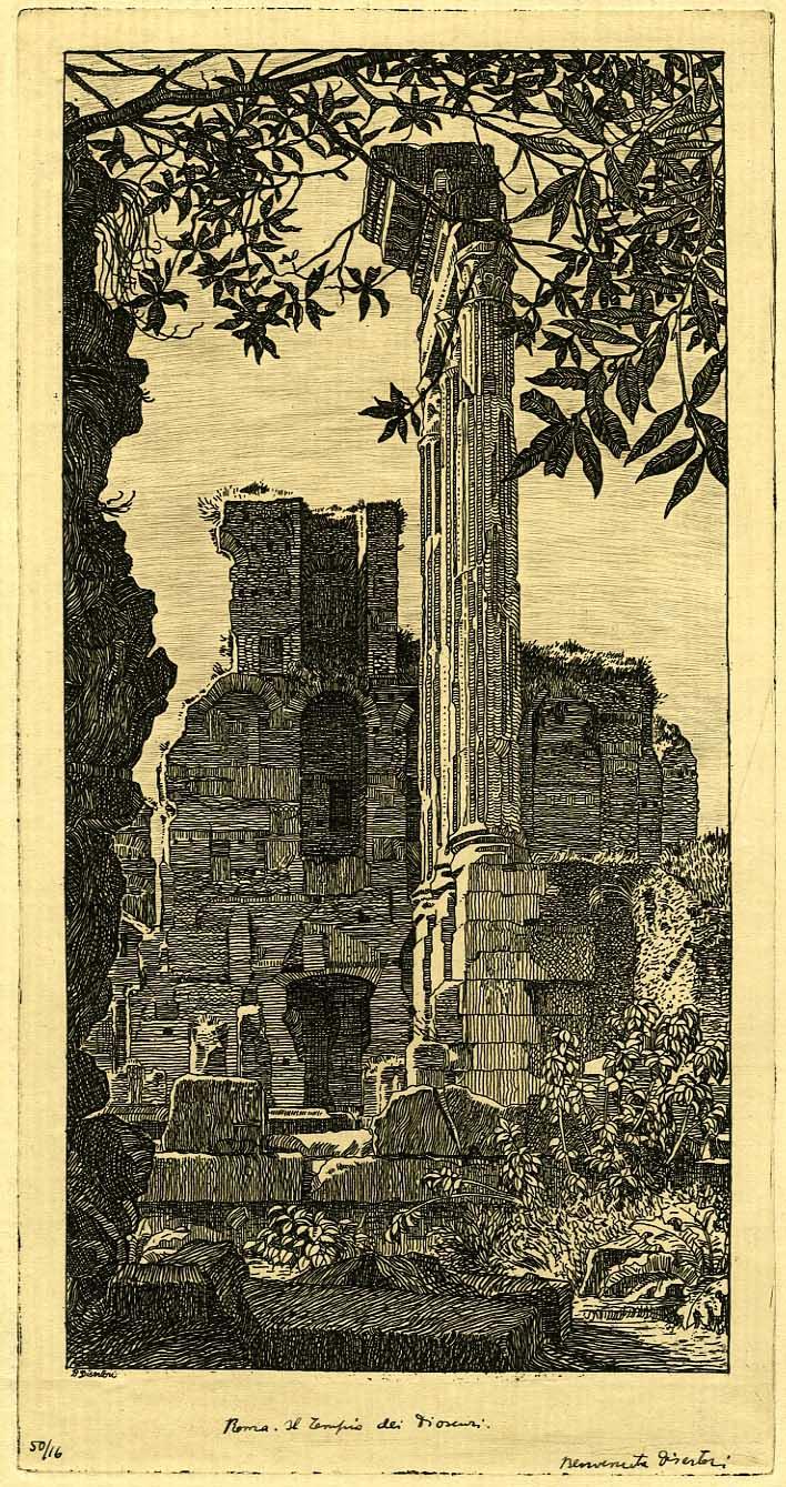 Il tempio dei Dioscuri (1918-1919).