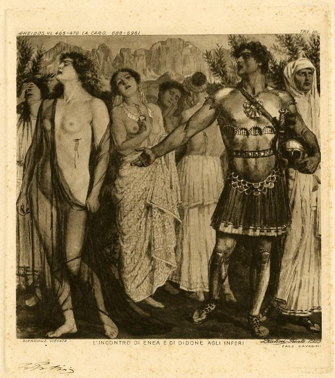 L'incontro di Enea e di Didone agli inferi.