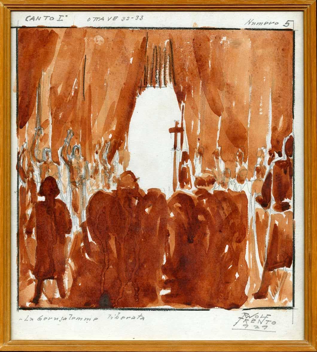 La Gerusalemme liberata, canto I, ottave 32-33, numero 5.