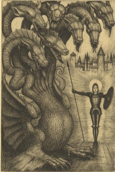 Il piccolo Giorgio e il grande drago.