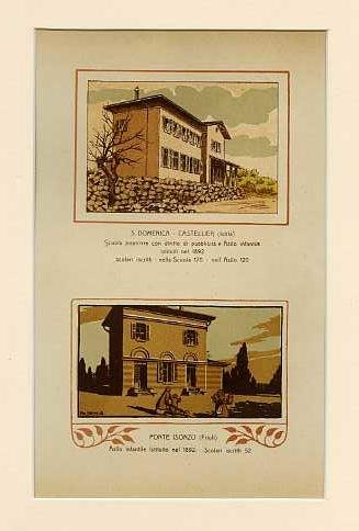 S. Domenica - Castellier (Istria) Scuola popolare con diritto di pubblicità e Asilo infantile istituiti nel 1892. Scolari iscritti nella Scuola 170. Nell'Asilo 120; Ponte Isonzo (Friuli) Asilo infantile istituito nel 1892. Scolari iscritti 52.