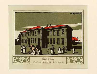 Fogliano (Friuli) Asilo infantile istituito nel 1910. Scolari iscritti 45.