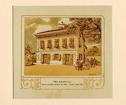 Vines Albona (Istria) Scuola popolare istituita nel 1910. Scolari iscritti 130.