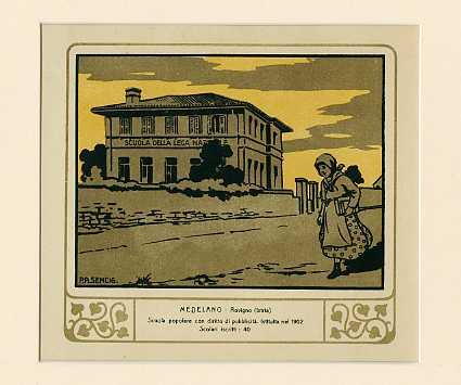 Medelano - Rovigno (Istria) Scuola popolare con diritto di pubblicità. Istituita nel 1902. Scolari iscritti 40.