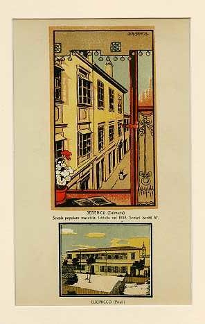 Curzola (Dalmazia) Scuola popolare maschile istituita nel 1904. Scolari iscritti 84; Borgo Erizzo (Zara) Asilo infantile istituito nel 1899. Scolari iscritti 83.