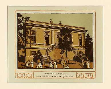 Piedimonte - Gorizia (Friuli) Scuola popolare istituita nel 1891. Scolari iscritti 85.