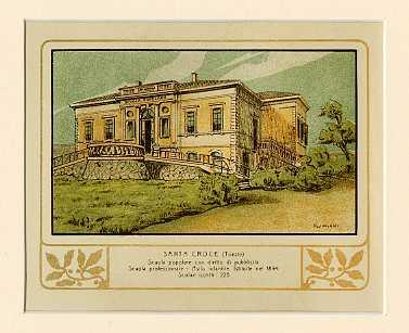 Santa Croce (Trieste) Scuola popolare con diritto di pubblicità. Scuola professionale. Asilo infantile. Istituite nel 1894. Scolari iscritti 225.