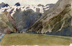 Veduta alpina del Sudtirolo.