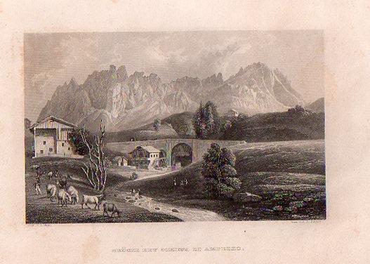 Brücke Bei Cortina d'Ampezzo.