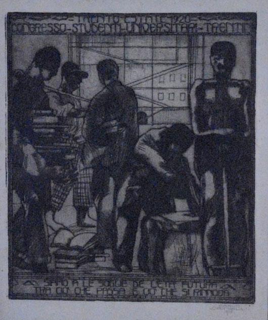 Trento-Estate 1920. Congresso-Studenti-Universitari-Trentini.