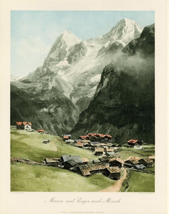 Mirren mit Eiger und Mönch.