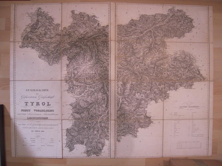 Generalkarte der Gefürsteten Grafschaft TYROL nebst Vorarlberg und dem Souverainen Fürstenthume LIECHTENSTEIN.