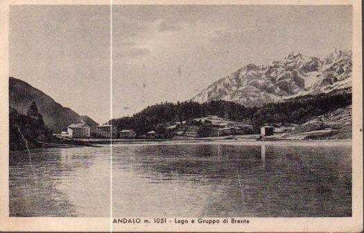 Andalo m. 1051 - Lago e Gruppo di Brenta.