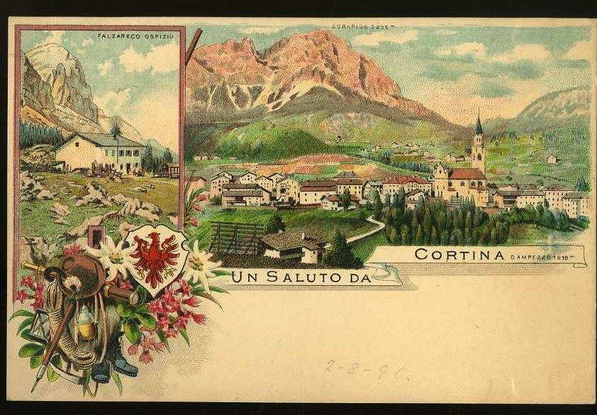 Un saluto da Cortina d'Ampezzo 1219 m.