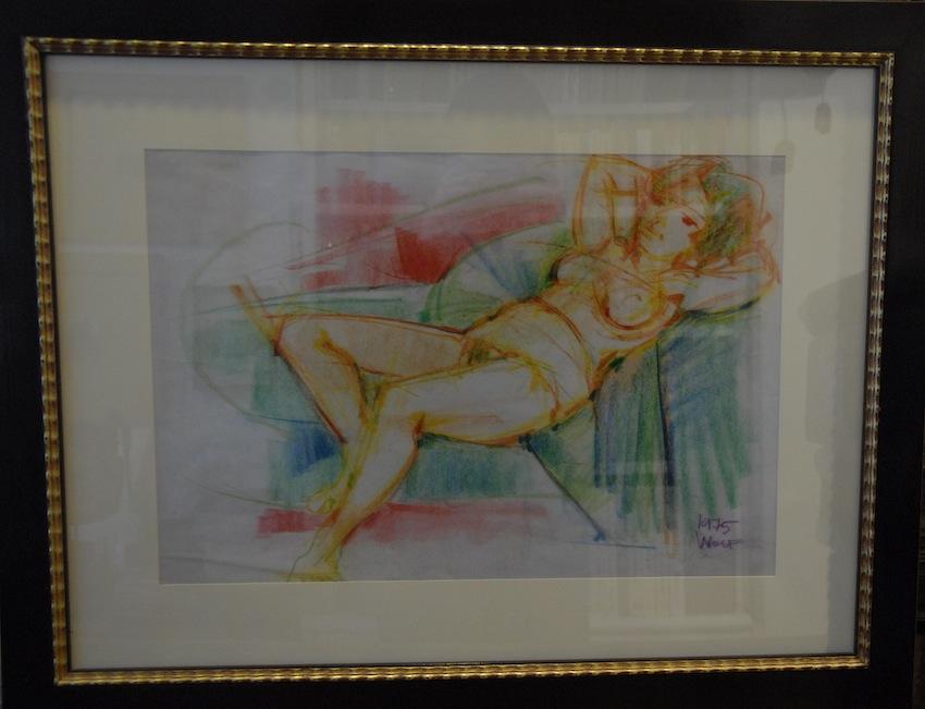 Ritratto di donna sdraiata.
