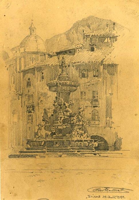 Trento - Fontana del Nettuno - Piazza Duomo.