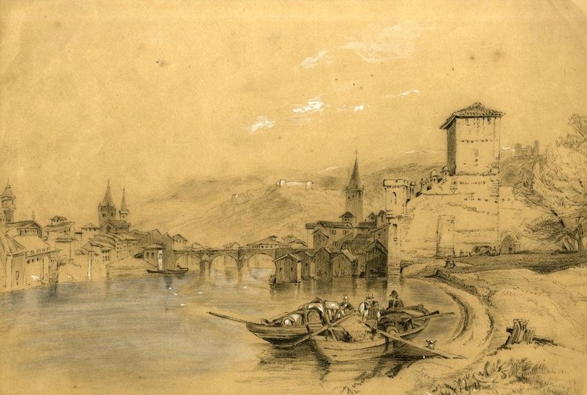 Veduta di Trento con il suo fiume.