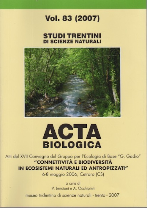 Studi trentini di scienze naturali: Acta biologica.