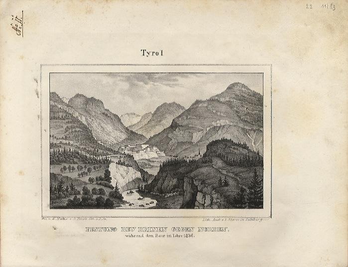 Festung Bey Brixen Gegen Norden: während dem Baur im Lohre 1836
