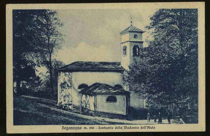 Segonzano m. 850 - Santuario della Madonna dell'Aiuto.