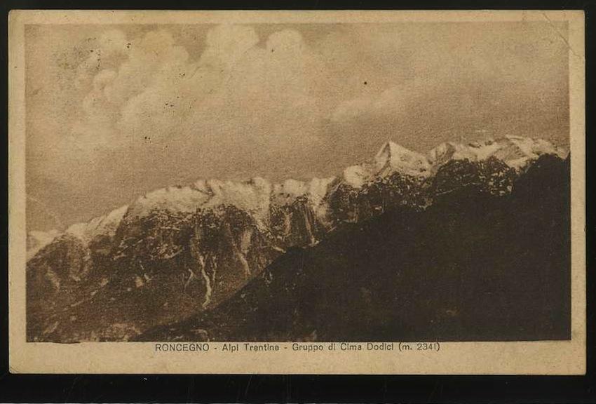 Roncegno. Alpi Trentine. Gruppo di Cima Dodici (m.2341).