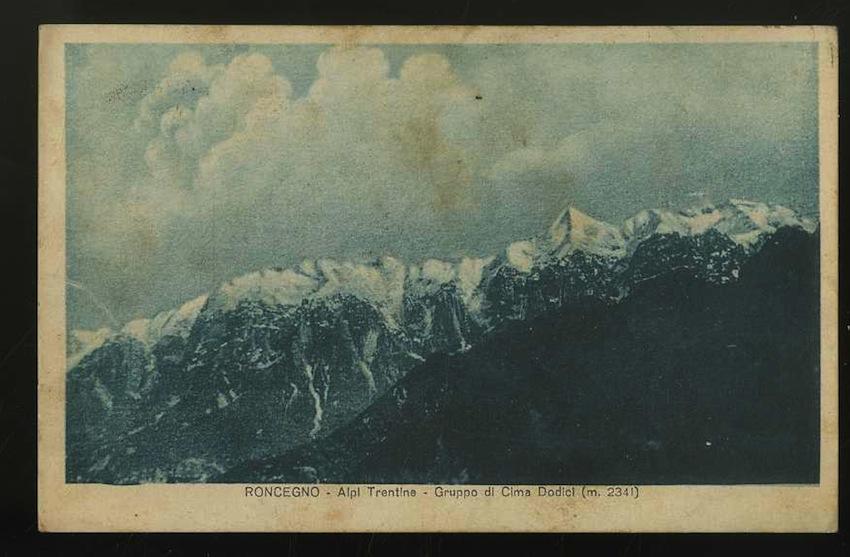 Roncegno. Alpi Trentine. Gruppo di Cima Dodici (m. 2341).