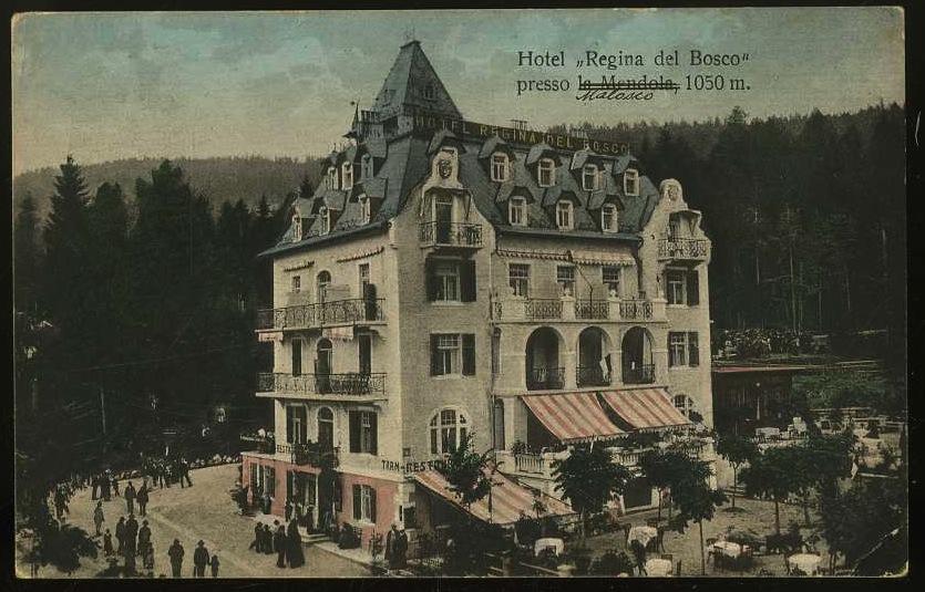 """Hotel """"Regina del Bosco"""" presso la Mendola 1050 m."""