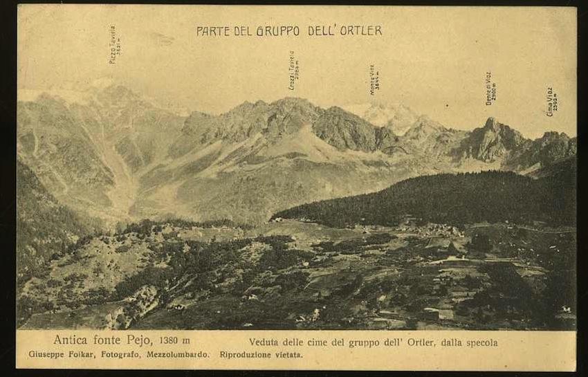 Antica fonte Pejo, 1380 m.