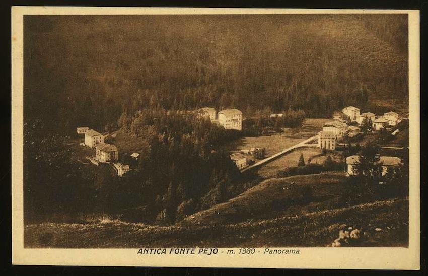 Antica Fonte Pejo m. 1380. Panorama.