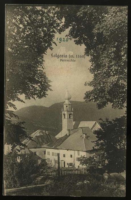 Folgaria (m. 1168). Parrocchia.