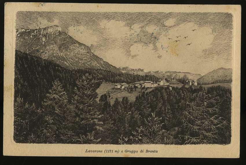 Lavarone (1171m) e Gruppo di Brenta.