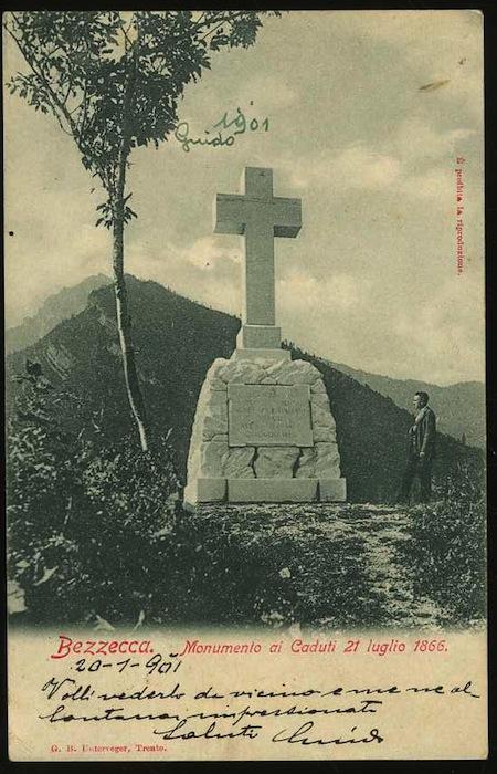 Bezzecca. Monumento ai caduti 21 luglio 1866.