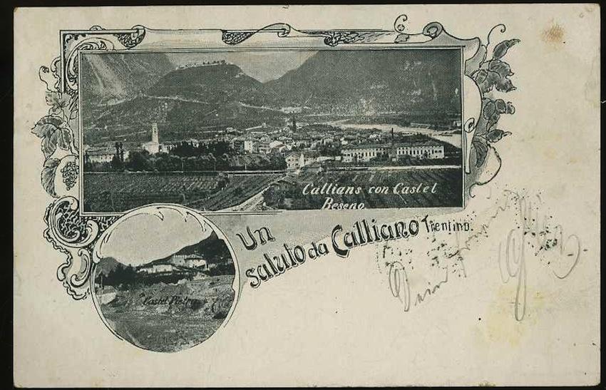 Un Saluto da Calliano. Trentino.