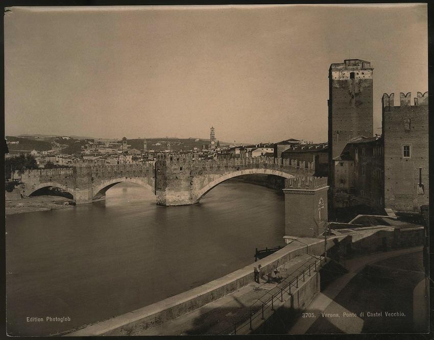 3705. Verona. Ponte di Castel Vecchio.