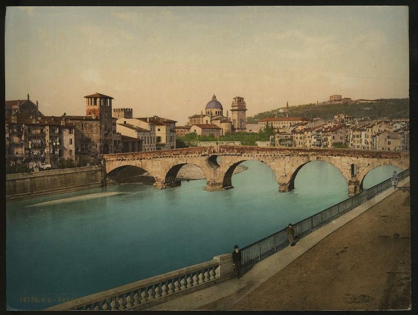 16776. P.Z. - Verona. Ponte della Pietra e San Giorgio.