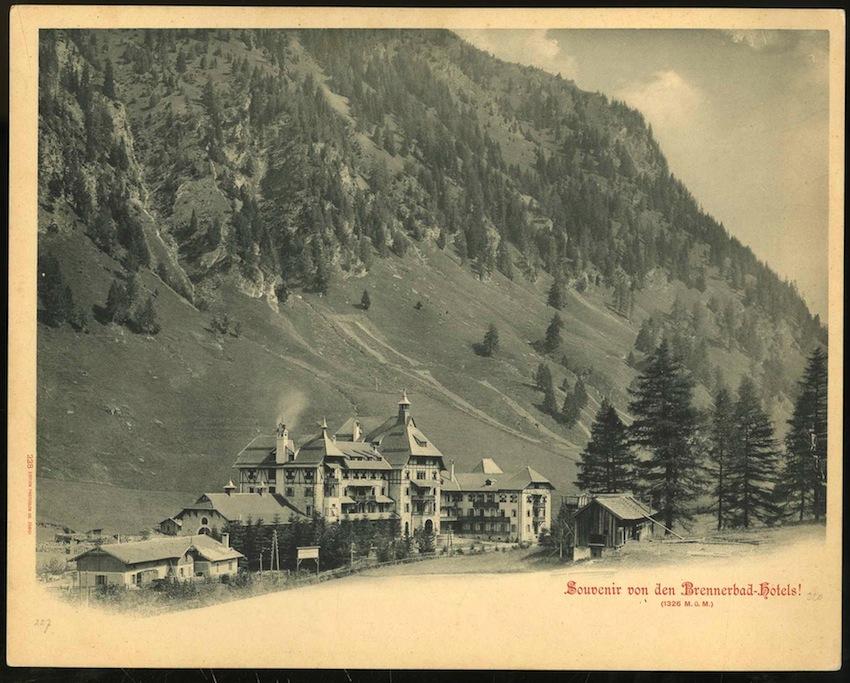228. Souvenir von der Brennerbad-Hotels! (1326 M.ü.M).