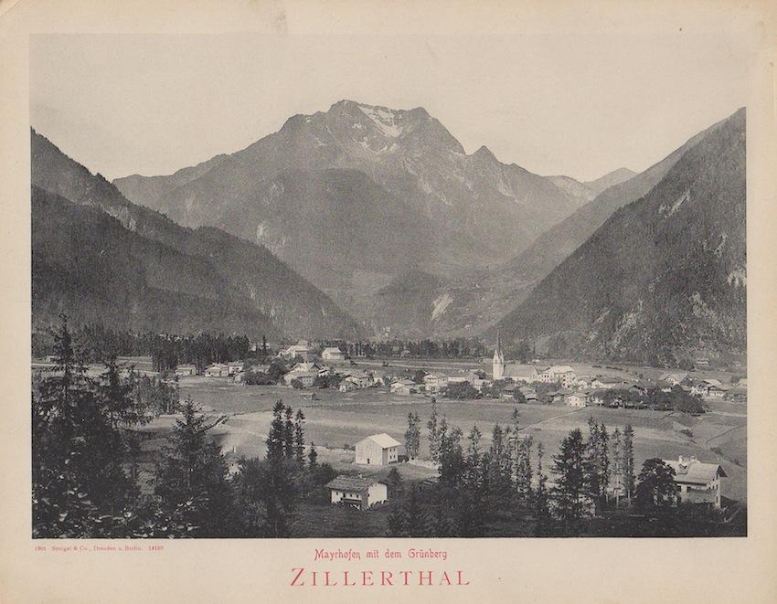 Mayrhofen mit dem Grünberg: Zillerthal.